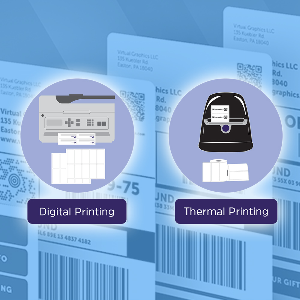 The difference between thermal transfer printing and direct thermal printing